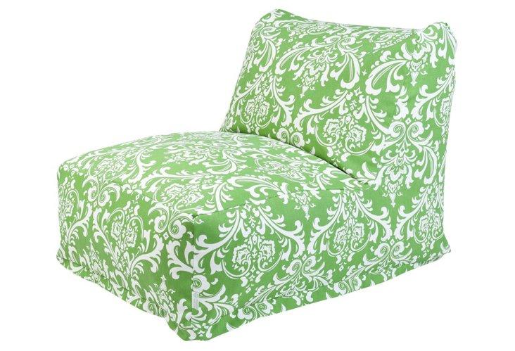 Quarter Outdoor Beanbag Chair, Green