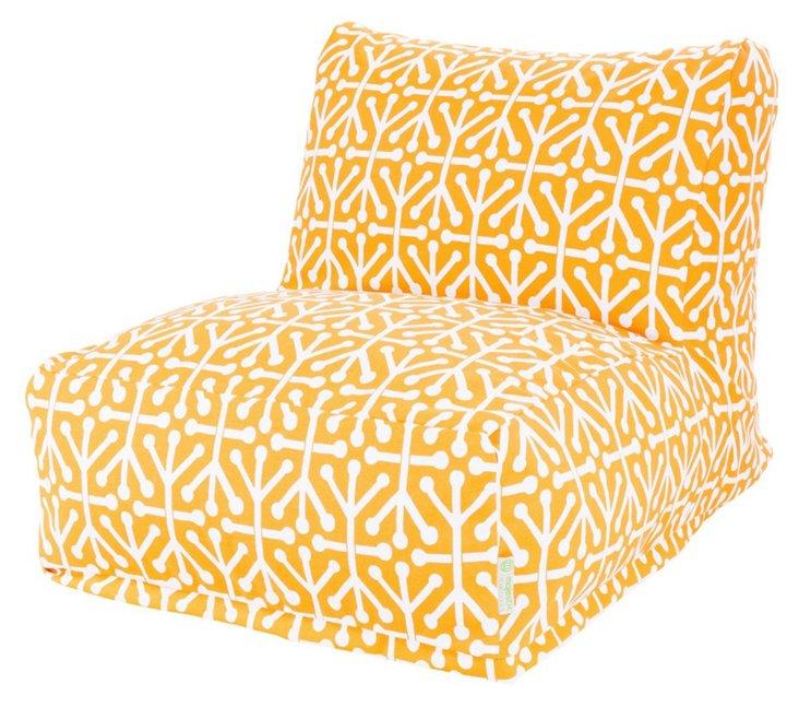 Jacks Outdoor Lounger, Yellow