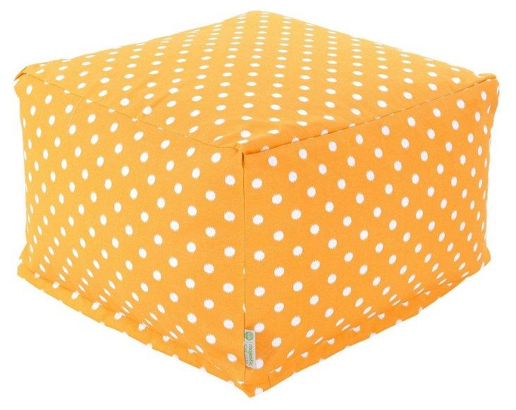 Polka Dot Outdoor Ottoman, Yellow