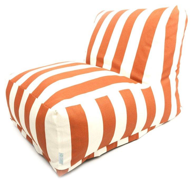 Striped Outdoor Lounger, Burnt Orange