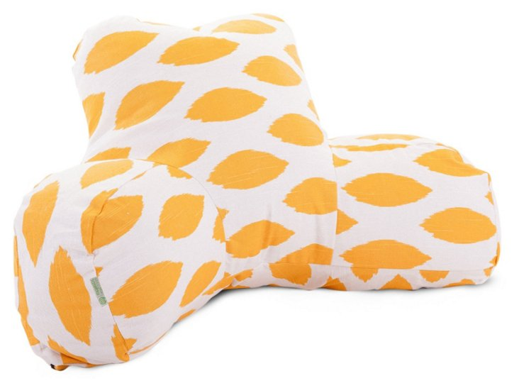 Ogee Reading Pillow, Yellow