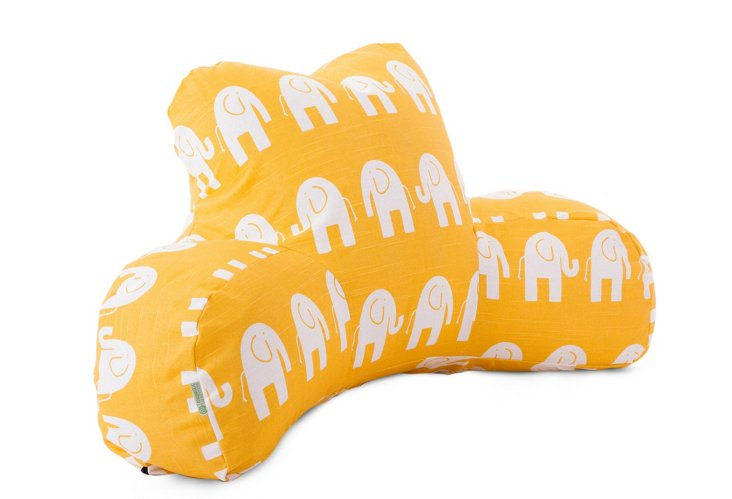 Ellie Reading Pillow, Yellow