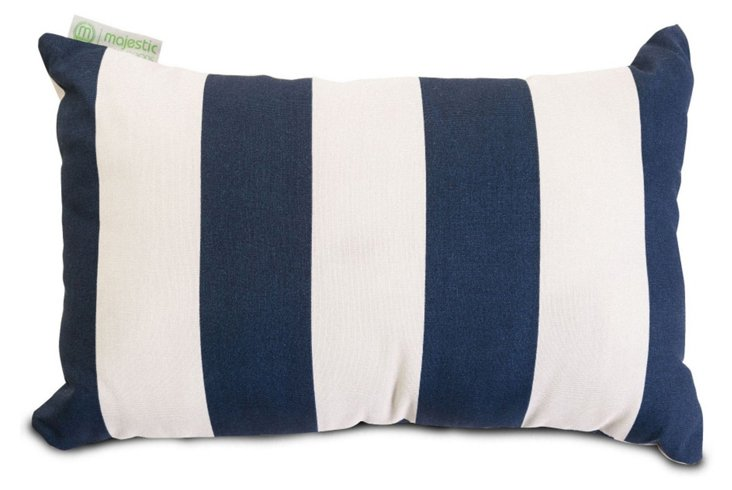 Striped 12x20 Outdoor Pillow, Navy