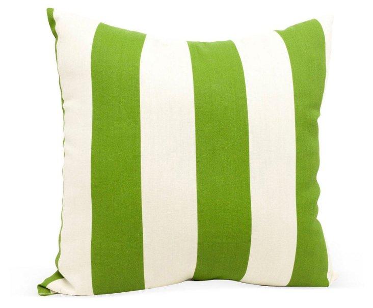 Striped 20x20 Outdoor Pillow, Green