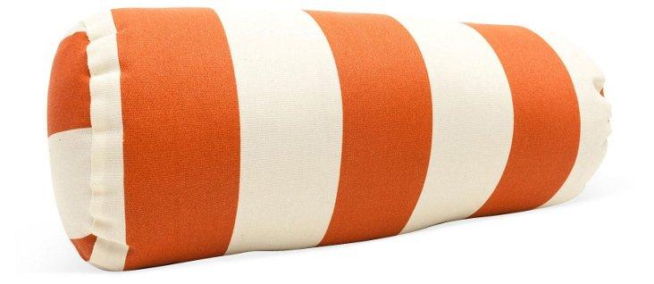 Striped 8x18 Outdoor Pillow, Orange