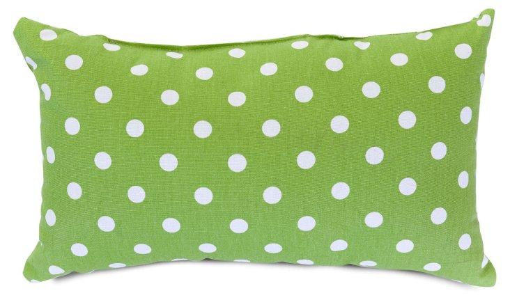 Polka Dot 12x20 Pillow, Lime