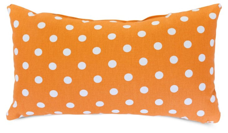 Polka Dot 12x20 Pillow, Tangerine