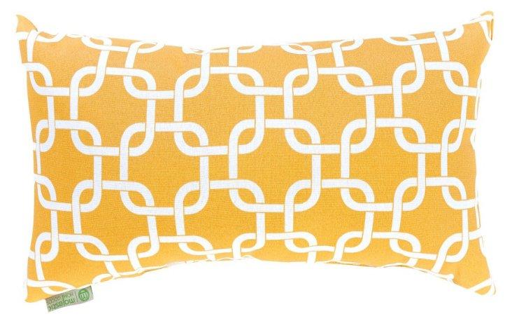 Links 12x20 Pillow, Yellow