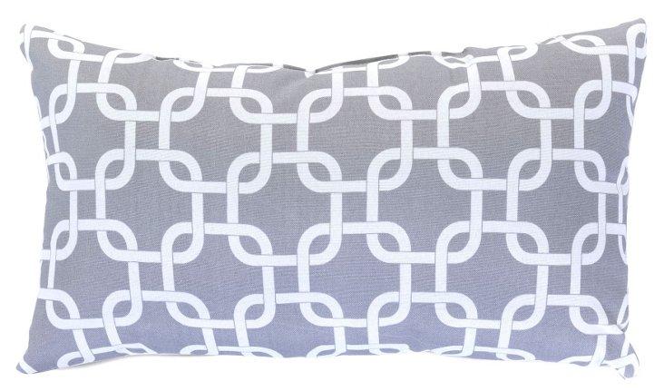 Links 12x20 Outdoor Pillow, Gray