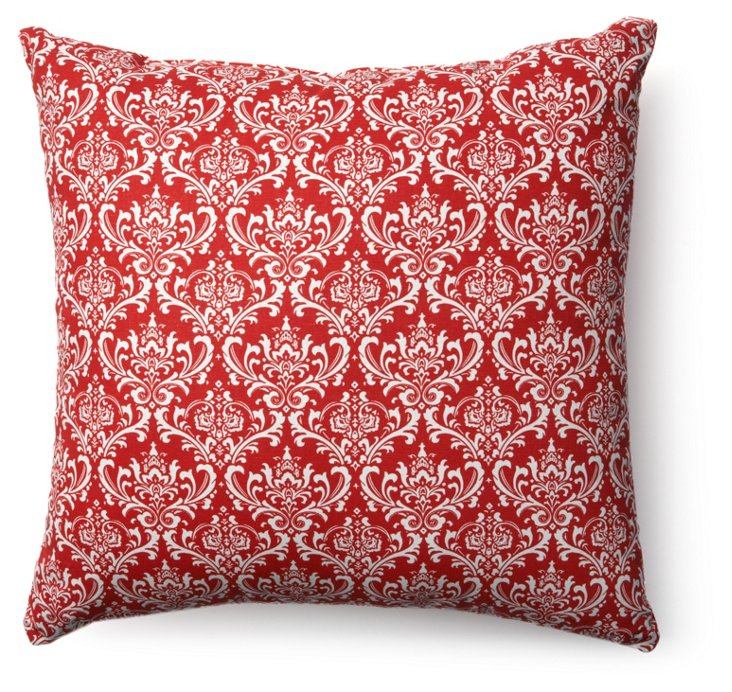 French Quarter 20x20 Pillow, Red