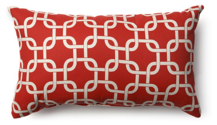 Links 12x20 Outdoor Pillow, Red