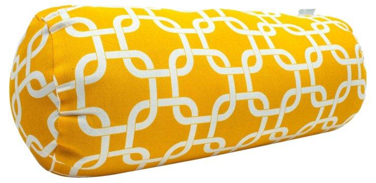 Links 8x18.5 Outdoor Pillow, Yellow