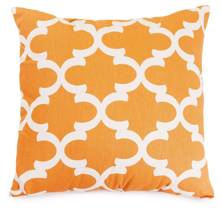 Trellis 20x20 Outdoor Pillow, Peach