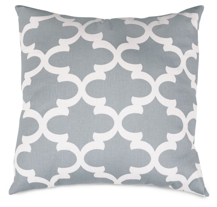 Trellis 20x20 Outdoor Pillow, Gray