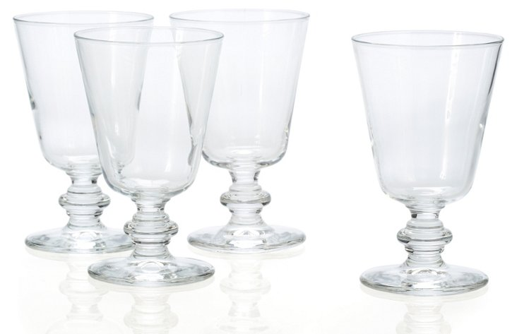 S/4 Water Glasses, Clear
