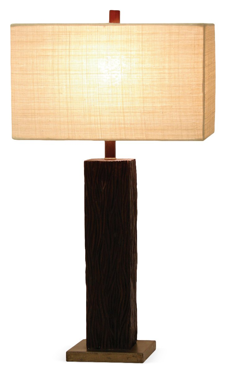 Found Wood Lamp