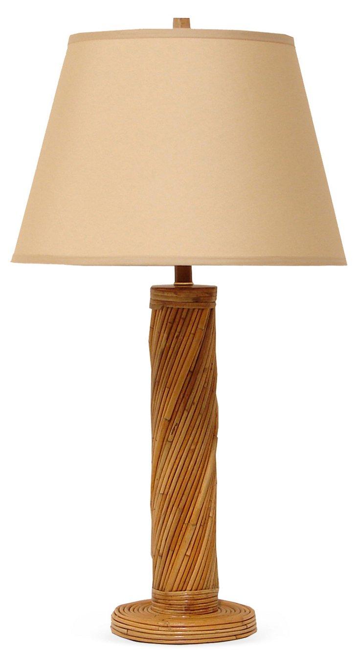 Rattan Twist Table Lamp