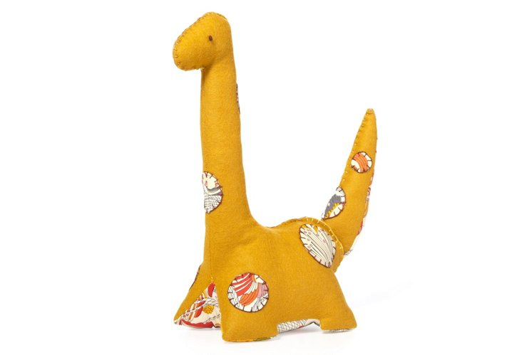 Premium Plush Dinosaur Rudy, Mustard
