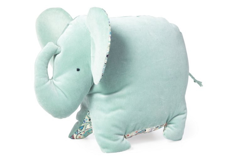 Premium Plush Baby Elephant, Blue