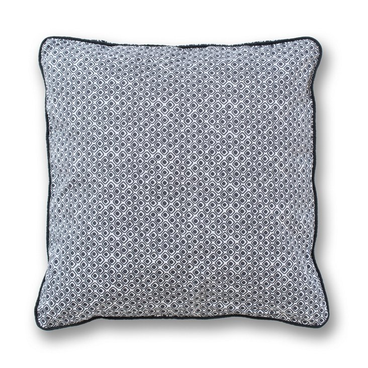 Squares 18x18 Pillow, Gray