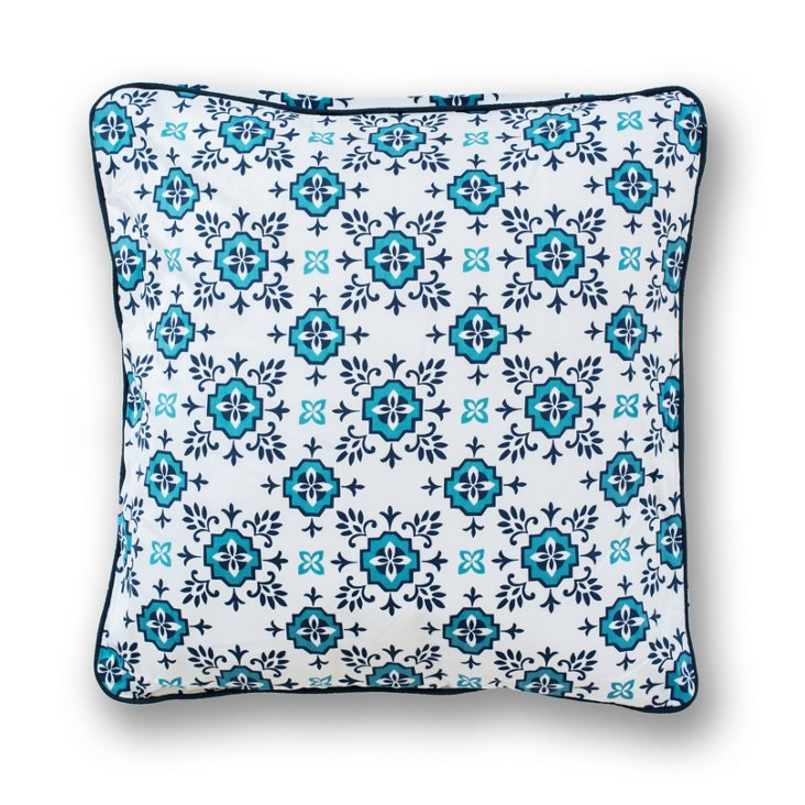 Foulard 18x18 Pillow, Blue