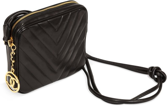 Chanel Lambskin Chevron Shoulder Bag