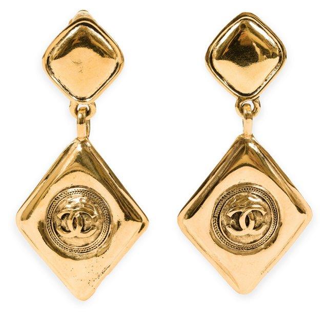 1980s Chanel Drop Earrings
