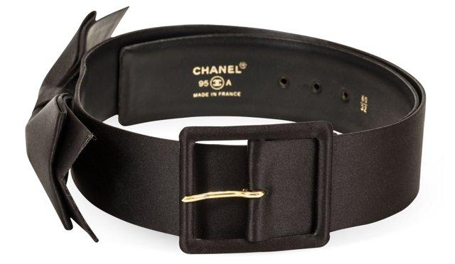 Chanel Satin Bow Belt