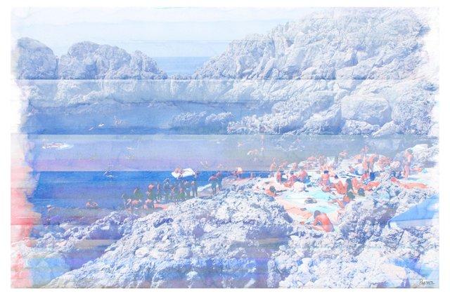 Capri Swim, Canvas