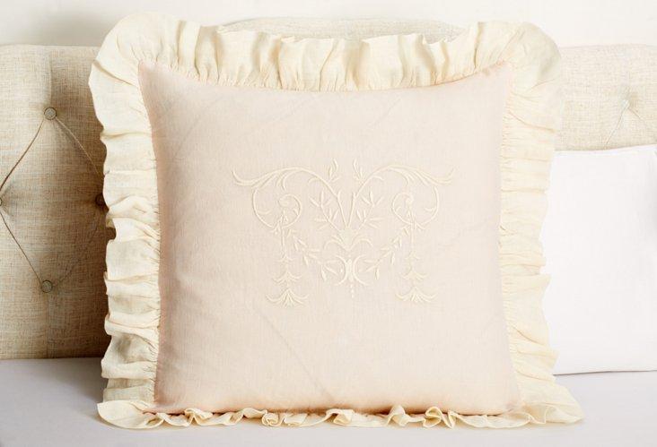 Celeste XL Euro Sham, Pink/Cream