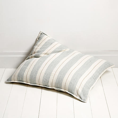Laguna 28x36 Pillow, Ocean/Natural Linen