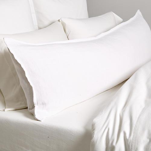 Montauk 18x60 Body Pillow, White