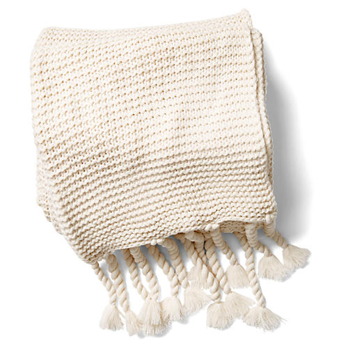 Trestles Acrylic Throw, Antiqued White