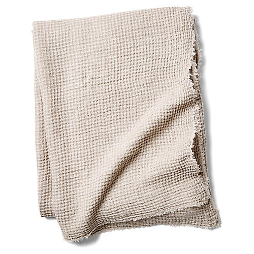 Venice Linen Throw, Taupe