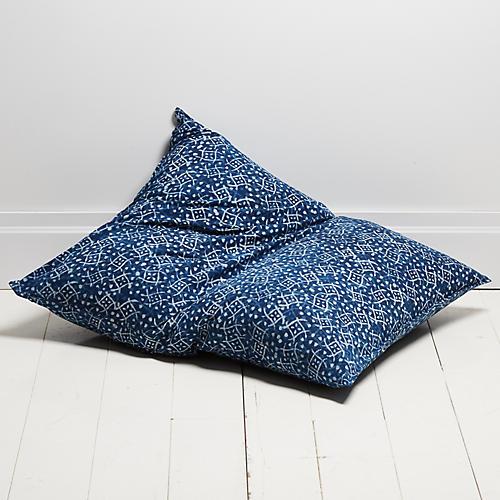 Neela 28x36 Pillow, Indigo