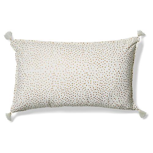 Dot 14x24 Lumbar Pillow, Gold