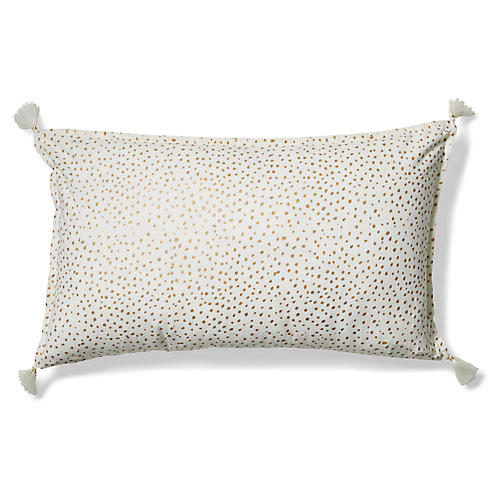 Dot 14x24 Lumbar Pillow, Gold