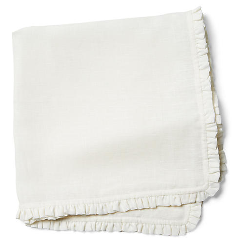 S/4 Charlie Dinner Napkins, White