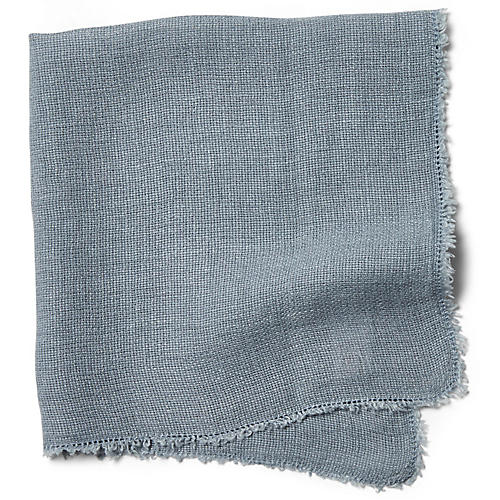 S/4 Carmel Dinner Napkins, Dusty Blue