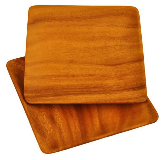 S/2 Acacia Square Appetizer Plates