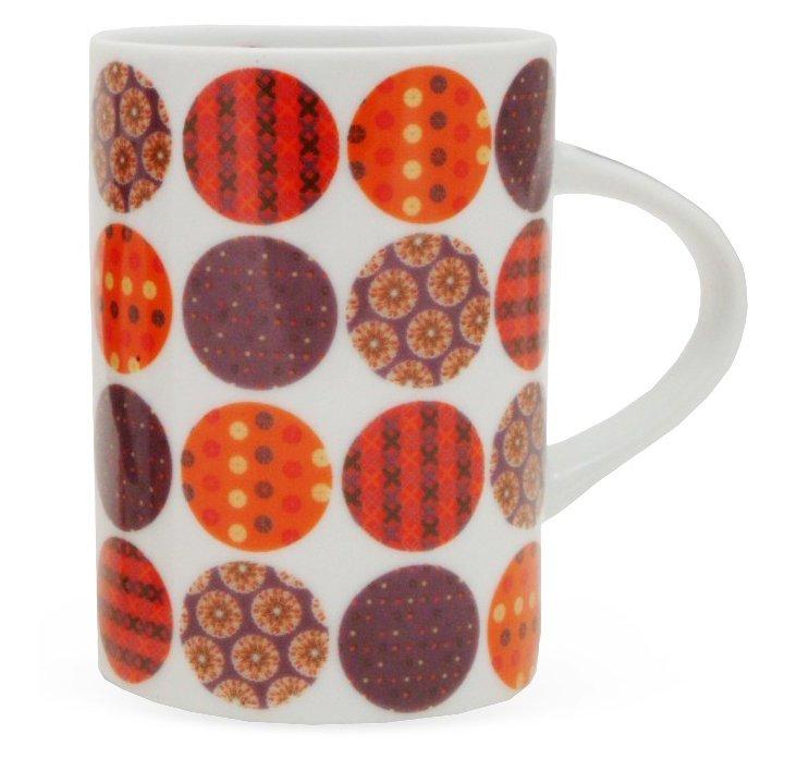 S/4 Celine Mugs, White/Multi