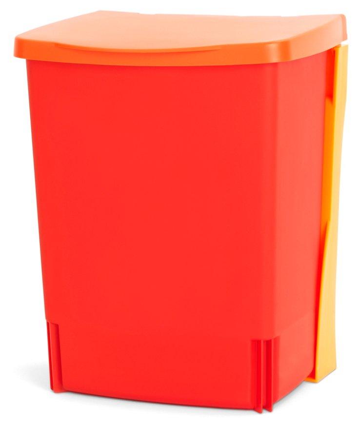 Wall-Mounted Storage Bin, Red