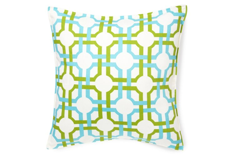 Geo 20x20 Pillow, Green/Blue