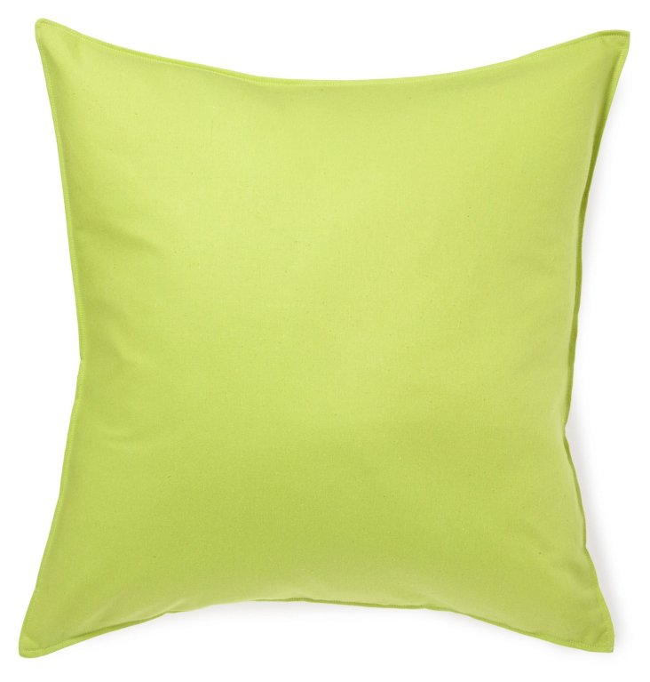 Solid 20x20 Cotton Pillow, Lime