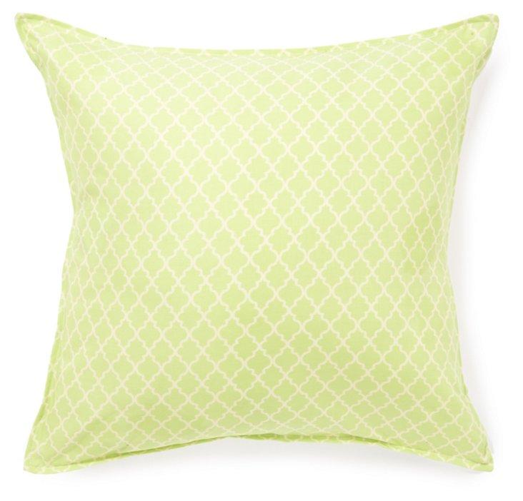 Marrakesh 16x16 Cotton Pillow, Green