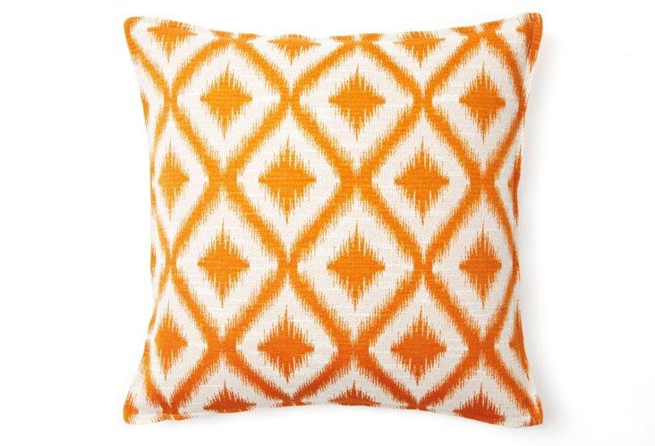 Bazaar 16x16 Pillow, Orange