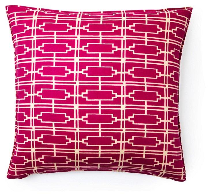 Metropolis 16x16 Cotton Pillow, Multi