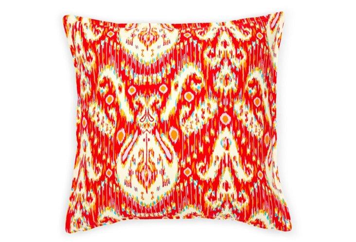 Royal Ikat 16x16 Pillow, Pink/Multi