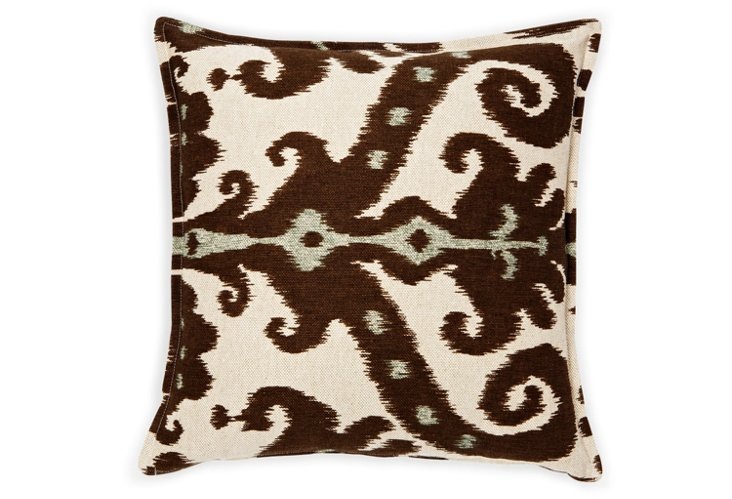 Marrakesh 16x16 Pillow, Brown/Cream