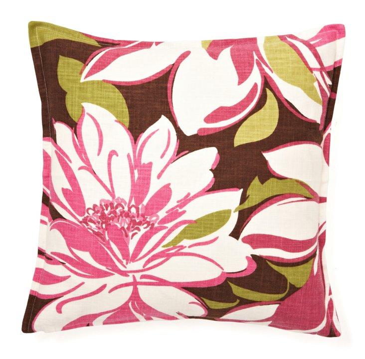 Graphic Floral 16x16 Pillow, Multi